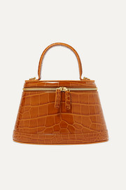 Annie croc-effect leather tote