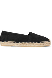 Logo-embroidered suede espadrilles