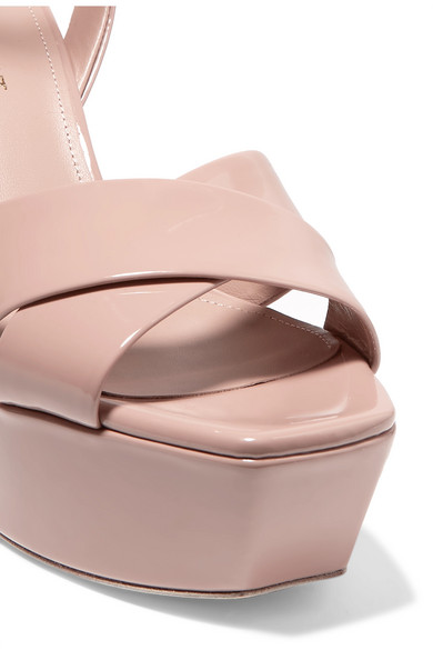 Saint Laurent Platforms Farrah patent-leather platform sandals