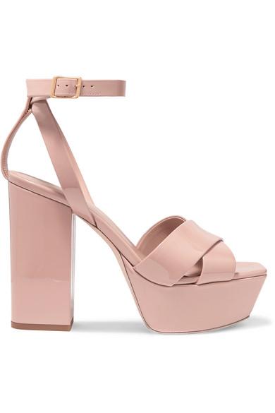 Saint Laurent High-heels Farrah patent-leather platform sandals
