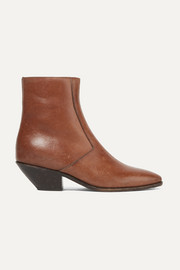 West Ankle Boots aus Leder