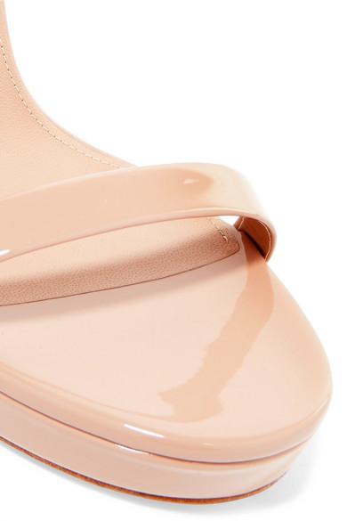 Saint Laurent Platforms Hall patent-leather platform sandals