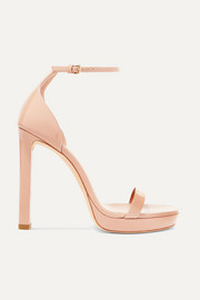 Hall patent-leather platform sandals