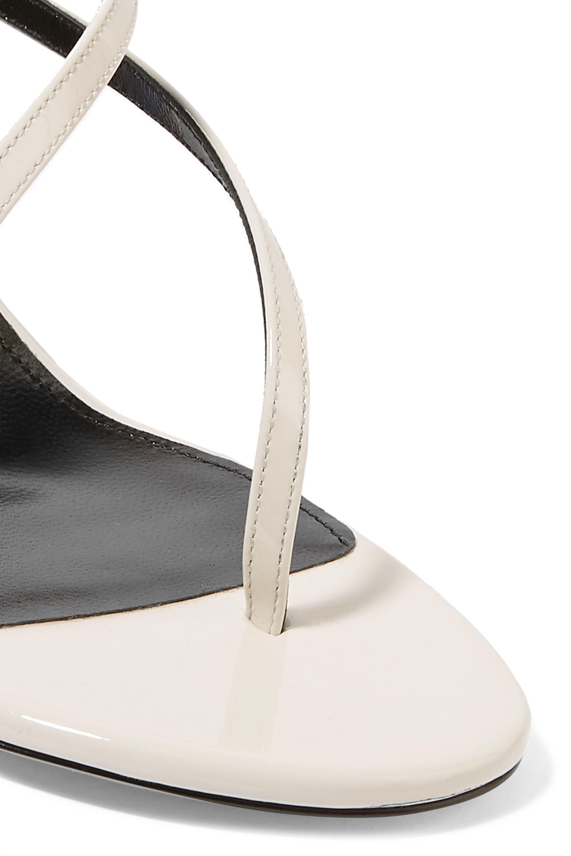 SAINT LAURENT Paris Minimalist patent-leather sandals