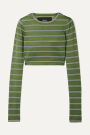Marc Jacobs Cropped striped jersey top