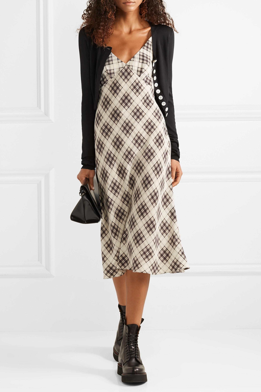 Runway Marc Jacobs Plaid silk-crepe midi dress