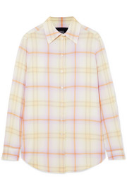 Marc Jacobs Checked crepe de chine shirt
