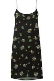 Marc Jacobs Bead-embellished silk-chiffon midi dress