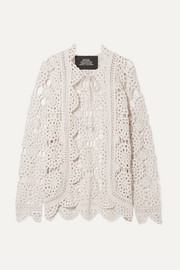 Marc Jacobs Crocheted cotton cardigan