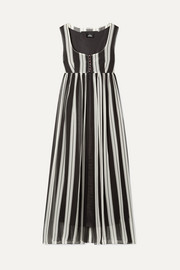 Marc Jacobs Striped silk-georgette maxi dress