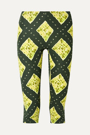 Marc Jacobs Cropped printed stretch-jersey leggings