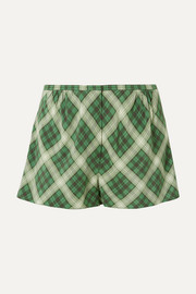 Marc Jacobs Plaid washed-silk shorts