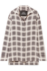 Marc Jacobs Checked washed-silk shirt