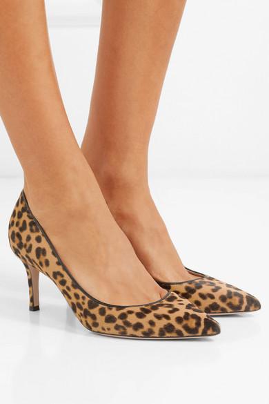 Gianvito Rossi Pumps 70 leopard-print calf hair pumps