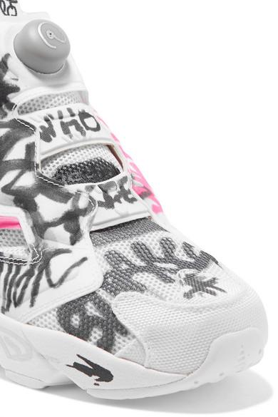 3b3fd9f7ea7 Vetements. + Reebok Instapump Fury printed neoprene and mesh sneakers.  £680. Zoom In