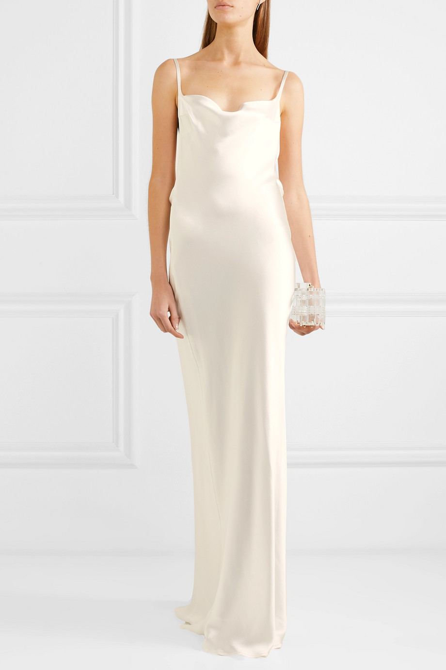 Galvan Whiteley silk-satin gown