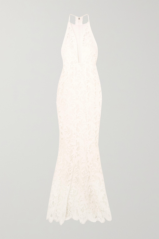 Galvan Robe de mariée en dentelle et en tulle Positano