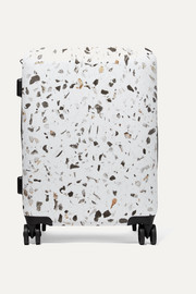 Terrazzo Carry-On marbled hardshell suitcase