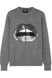 Markus Lupfer Mia sequined Lurex and cotton-blend sweater