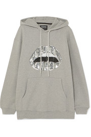 Markus Lupfer Erin oversized sequined cotton-jersey hoodie