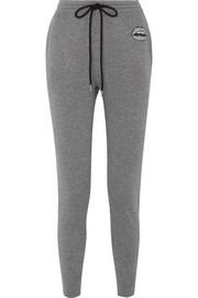 Markus Lupfer Lara appliquéd metallic cotton and Lurex-blend track pants