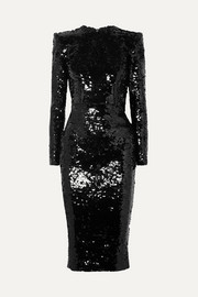 Alex Perry Sequined crepe dress