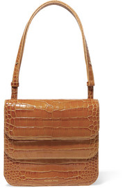 Ana croc-effect leather shoulder bag