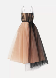 Alex Perry Lovell organza and tulle midi dress