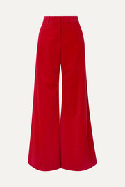 Bianca cotton-corduroy wide-leg pants