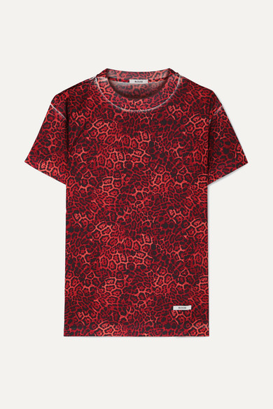 BLOUSE Castiglione Leopard-Print Jersey T-Shirt in Red