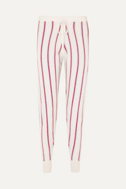 Ustica striped cashmere track pants