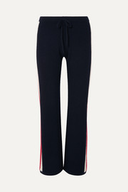 Carcina striped cashmere track pants