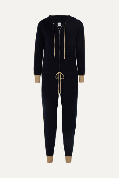 Hooded Cashmere Jumpsuit by Madeleine Thompson