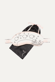 Morgan Lane Lanie embroidered silk-charmeuse eye mask