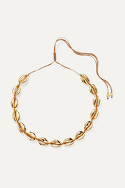 Large Puka gold-plated necklace