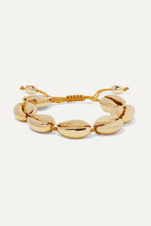 Tohum Large Puka gold-plated bracelet