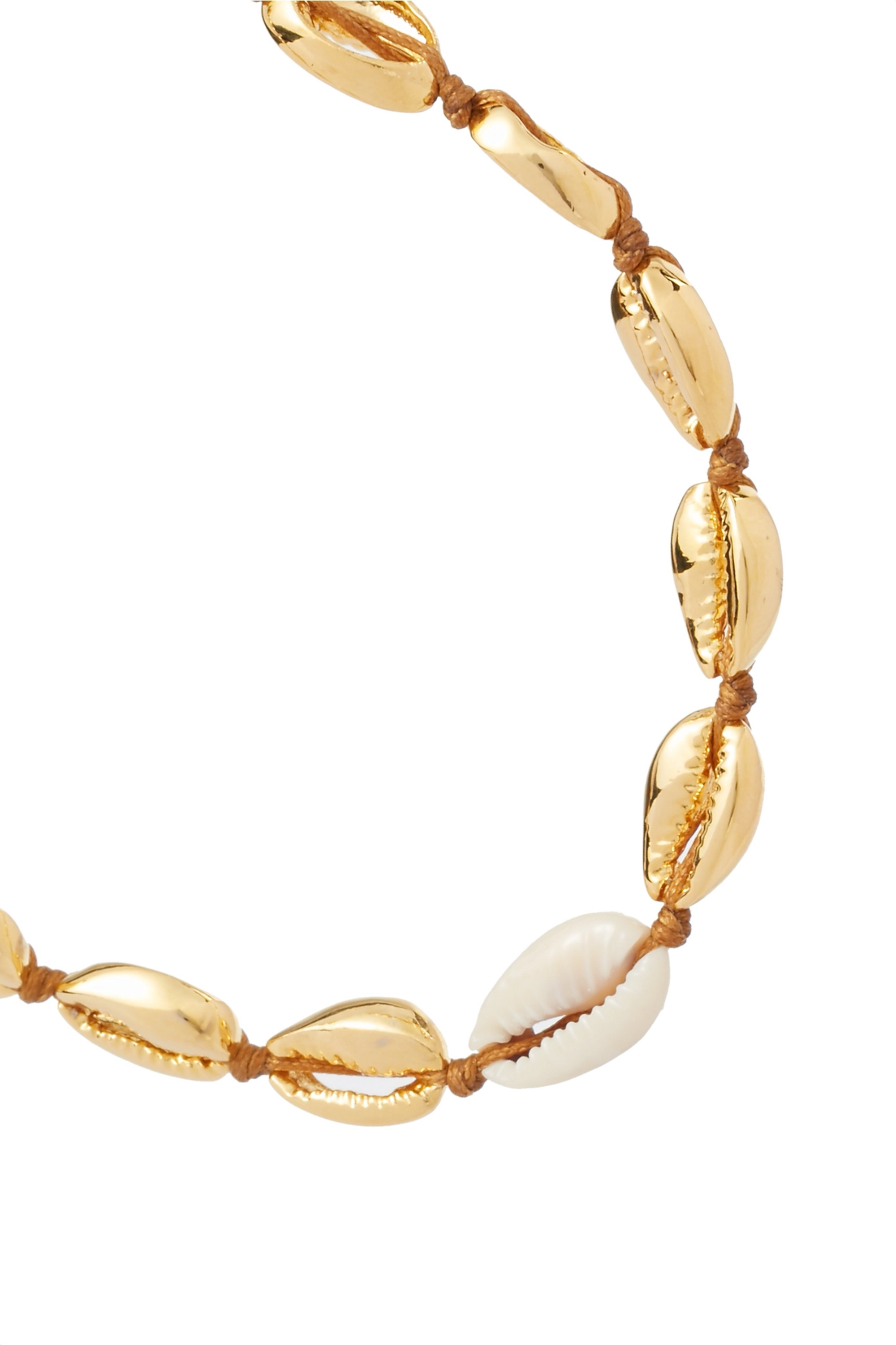 Tohum Small Puka gold-plated and shell necklace