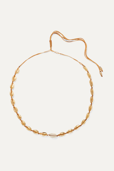 4def92f4911e8 Small Puka gold-plated and shell necklace