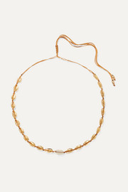 Small Puka gold-plated and shell necklace