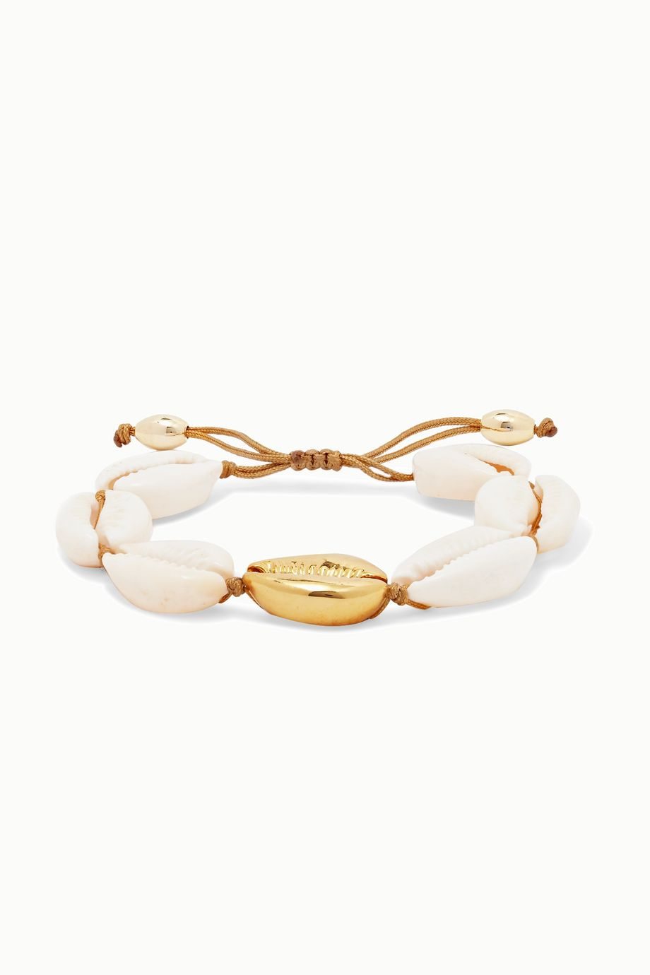 Tohum Large Puka gold-plated and shell bracelet