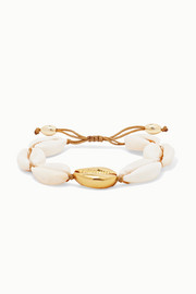 Large Puka gold-plated and shell bracelet