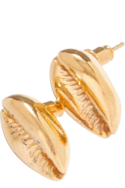 Tohum Large Puka gold-plated earrings