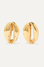 Tohum Large Puka gold-plated earrings