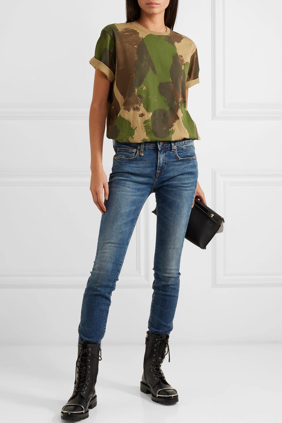 R13 Alison halbhohe Skinny Jeans
