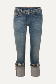 R13 Kate cropped distressed low-rise skinny jeans