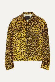 R13 Reed oversized leopard-print denim jacket