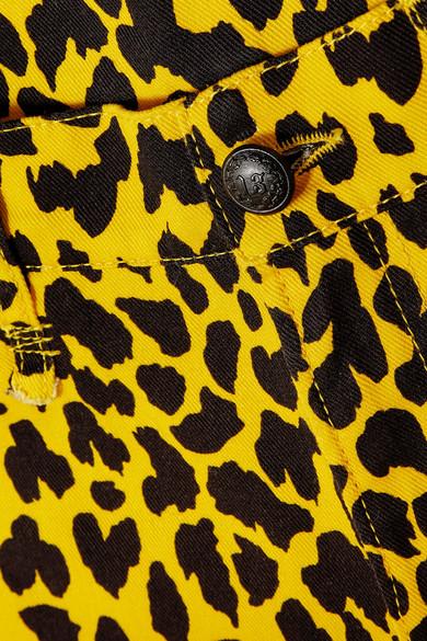 636e38c67791 R13   Joey leopard-print mid-rise slim-leg jeans   NET-A-PORTER.COM