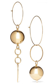 Mounser Solar gold-plated faux pearl earrings