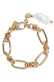 Hops gold-plated pearl bracelet