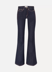 Oregon Raw high-rise flared jeans